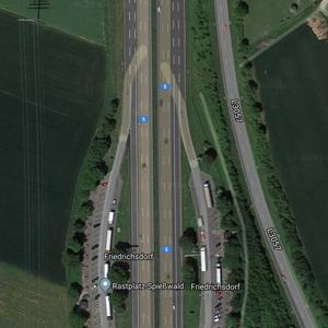 Parkplatz Schäferborn - A5 Bad Homburg/Friedberg