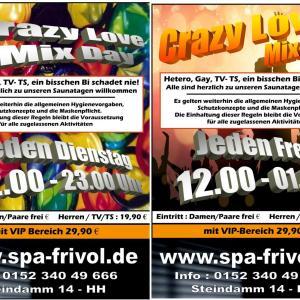 Jeden Dienstag happy Mixday im Spafrivol