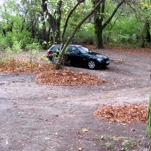 Alter Aura Parkplatz hinterer teil